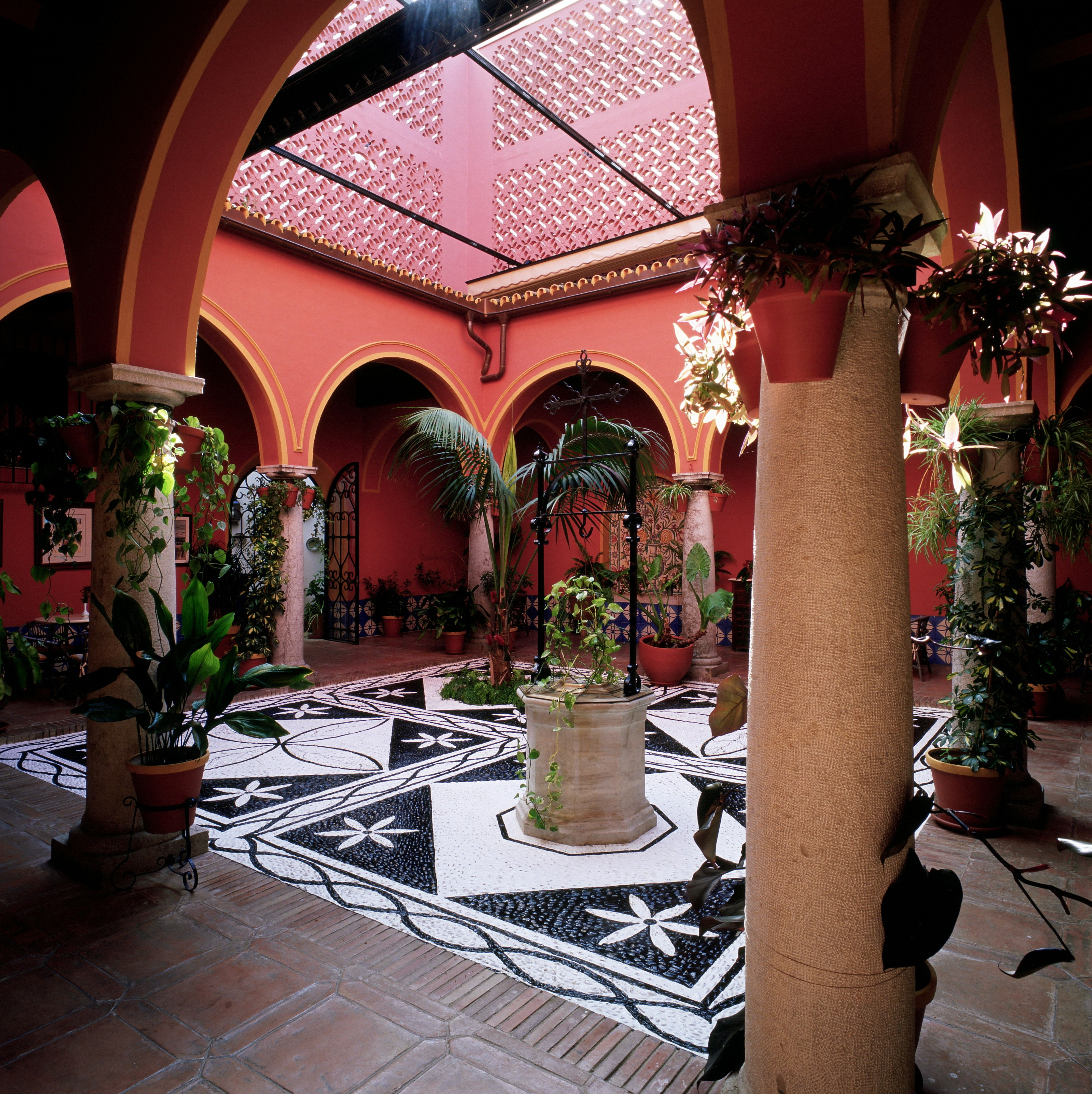 Pretty Courtyard With Beautiful Tile Work At Parador De Arcos De La Frontera In Andalusia Sapin House Styles Andalusia Cadiz