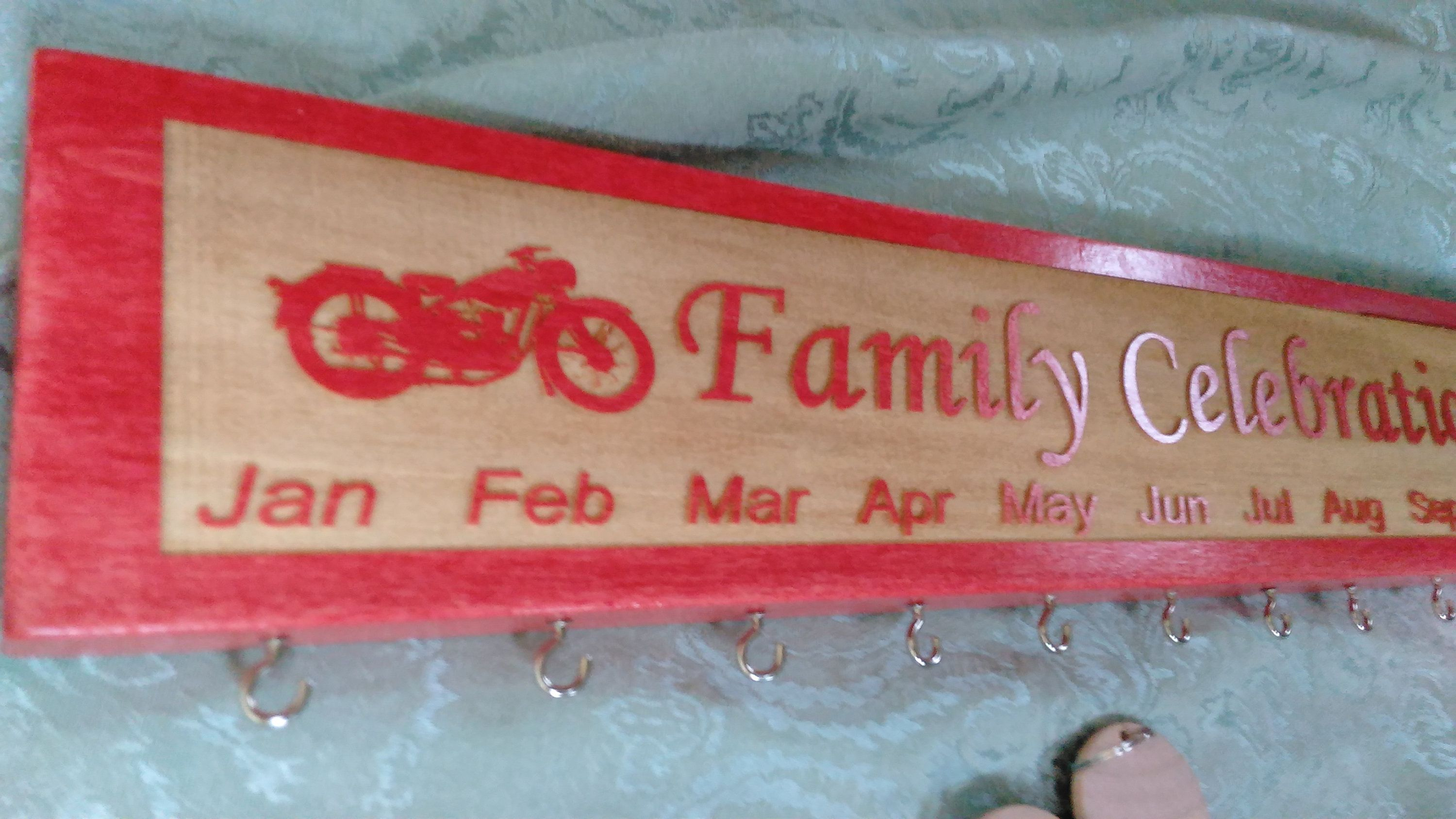 Customized and engraved family celebration board family
