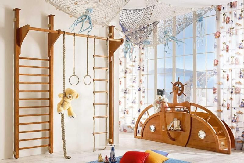 Maritime Möbel kletterwand im kinderzimmer moderne gestaltung wohnen