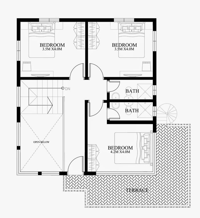 Modern duplex house designs elvations plans cad library also rh pinterest