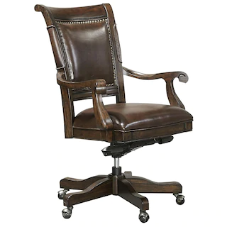 Nineteen37 Sheffield Office Arm Chair In Warm Rubbed Brown Chair