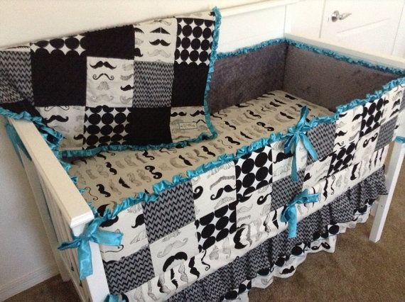 cotton tale lizzie bedding mustache crib bedding nursery mario bros pinterest babies