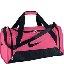 Nike Ladies Brasilia 6 Duffle Bag Womens Team Training Sports Holdall Pink Gym