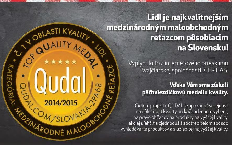 8f4a407f9 In the first QUDAL - QUality meDAL Survey in Slovakia, the Slovak citizens  stated Lidl
