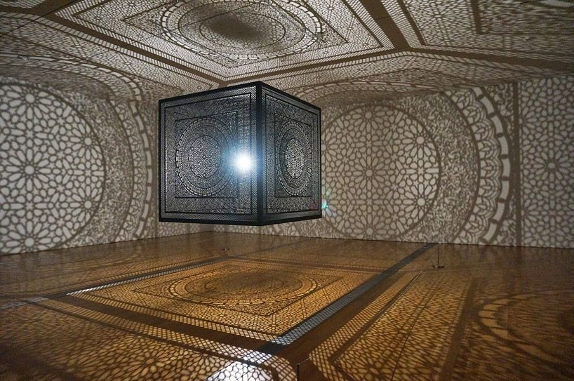 Laser-Cut Wooden Cube Fills Room with Amazing Shadow Art (10 pictures)