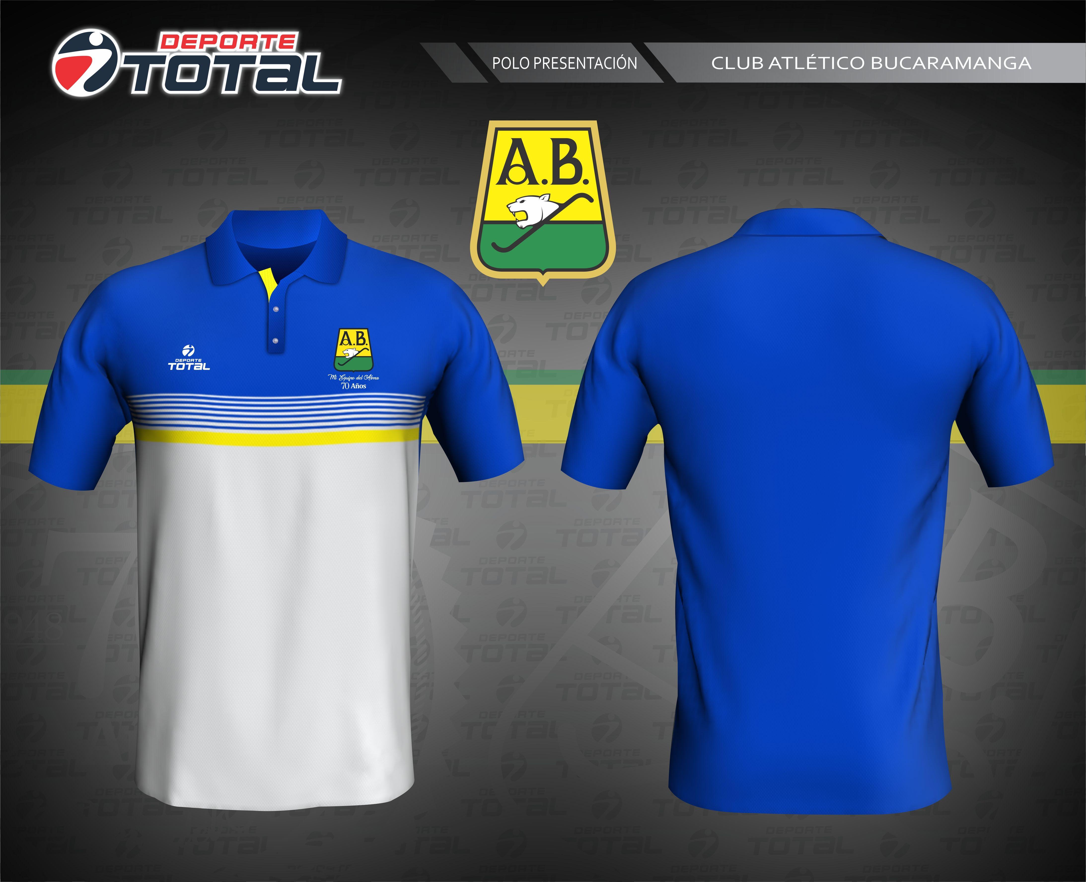 Polo De Presentación - deporte total-atletico bucaramanga- 2018-camiseta- uniforme-futbol-juego-soccer-diseño-santander-colombia-futbol colombiano-70  años-14 16528a02dc5f2