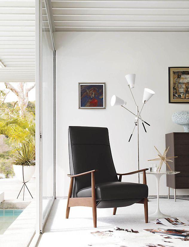 Milo Baughman Recliner Design within reach gazillions of fabric