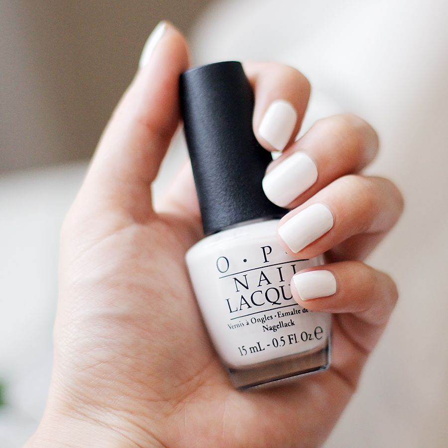 Summery white nail polish - OPI Alpine Snow | White nail ...