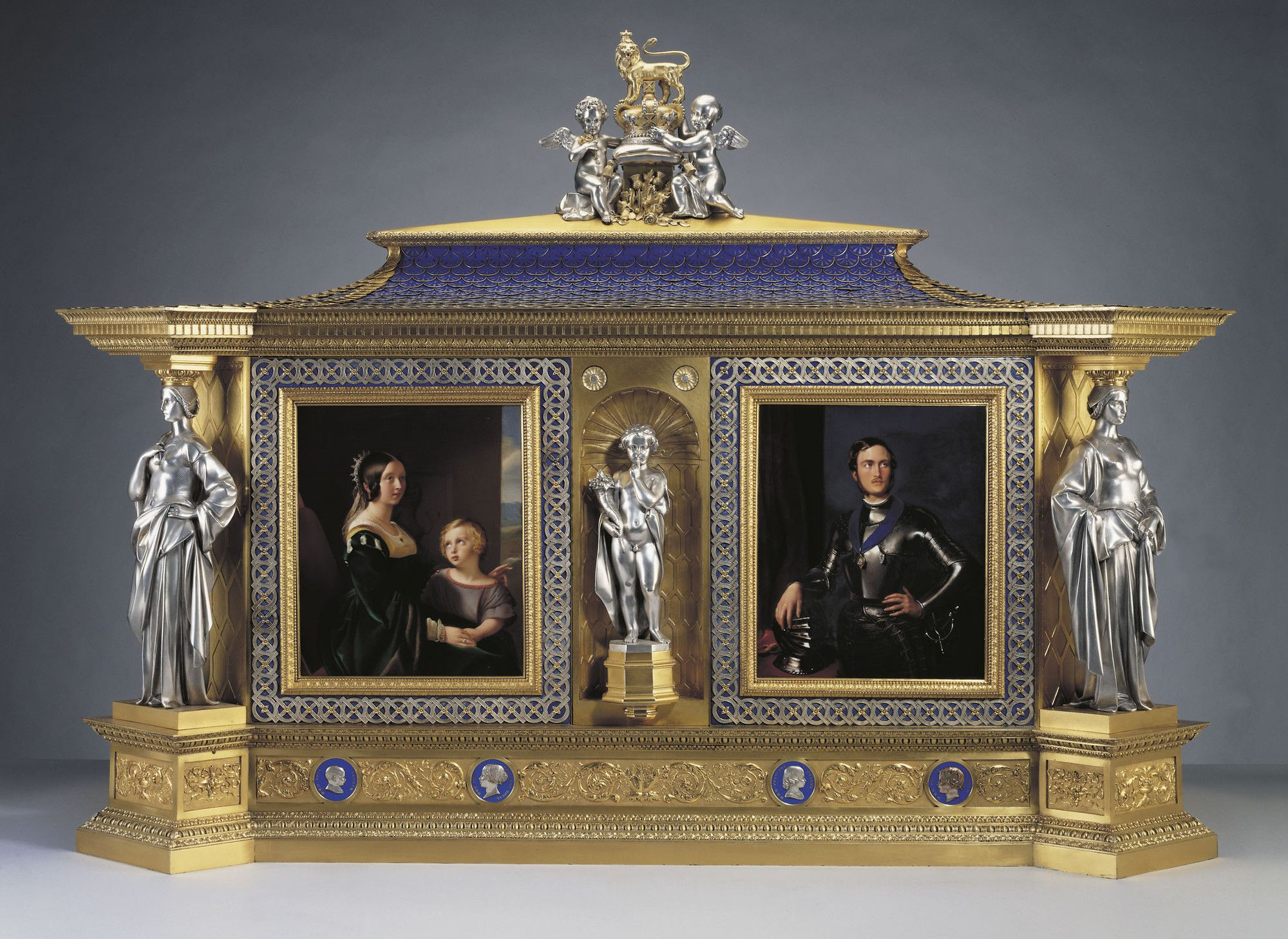 Ludwig Gruner 1801 1882 Jewel Cabinet C 1851 Oak Electro