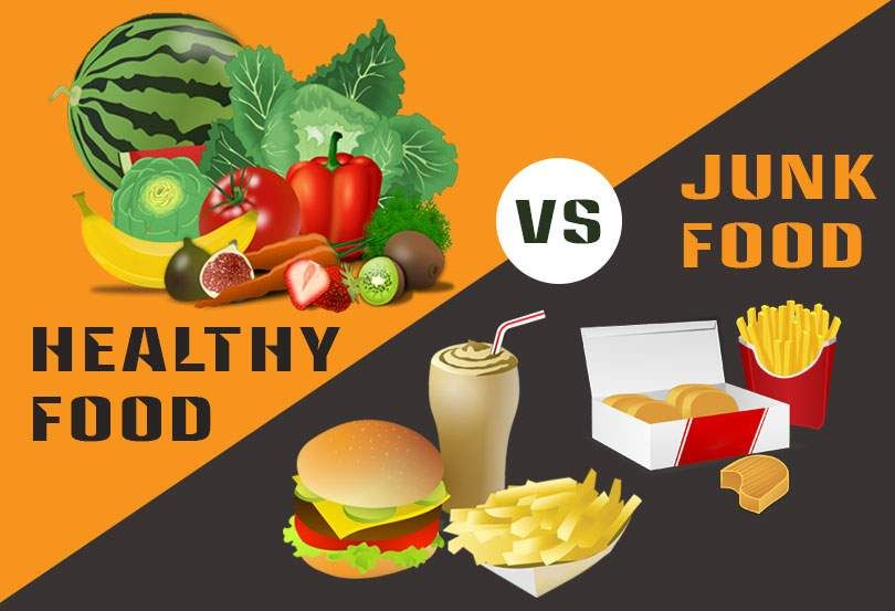 healthy food and junk food what is the best for health
