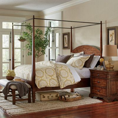 Fresh Platform Bed with Canopy