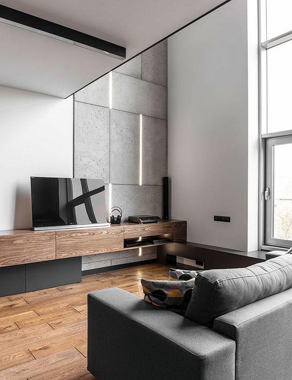 Schickes Apartement Design einer Männerwohnung in 2018 Wohnzimmer