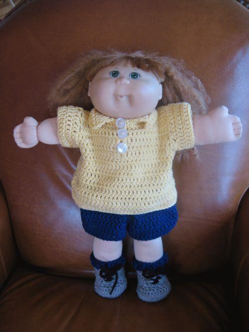 Cabbage Patch Doll Clothes Crochet   Stella Darlene   Pinterest ...