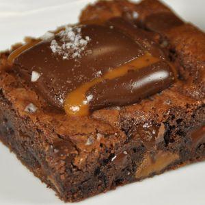 Sea Salted Caramel Brownies-Ingredients  • 1 box DCD Truffle Fudge Brownie Mix  • 1 stick butter  • 2 eggs  • 12 ea. DCD Sea Salted Caramels  • Sea Salt