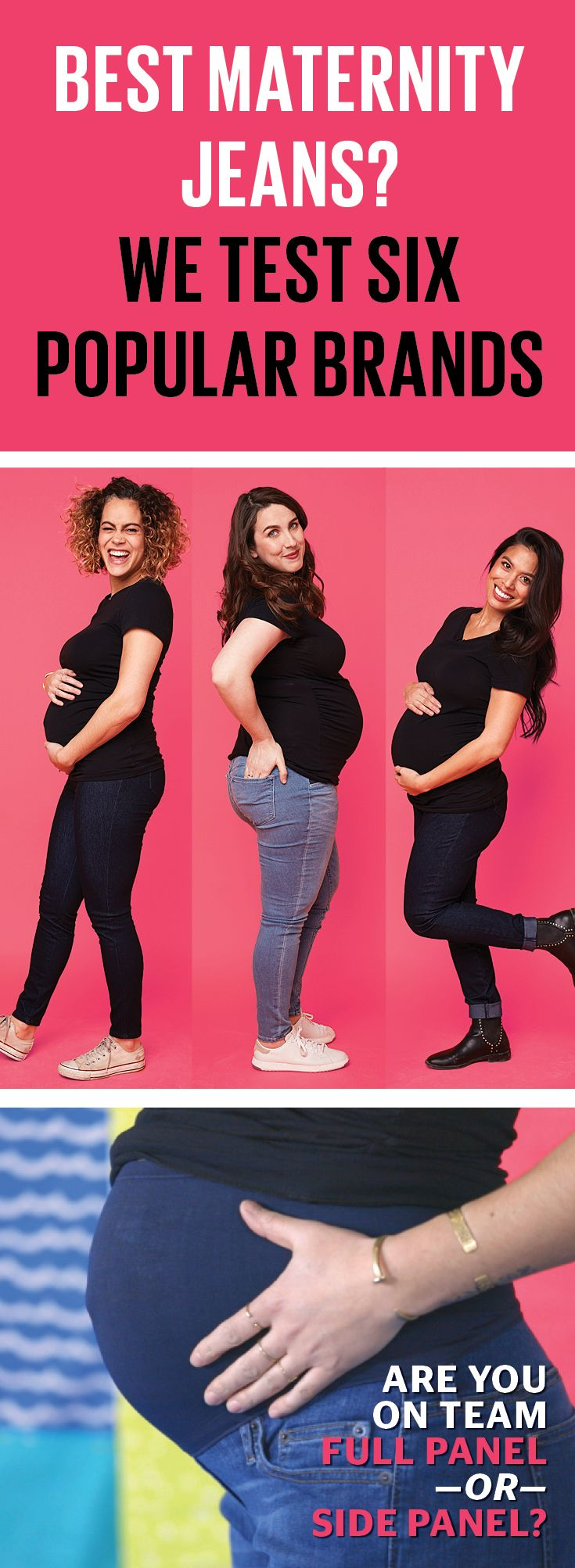 We gathered six popular brands of maternity jeans and tested them