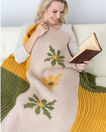 New Daisy Afghan Knitting Loom Free Pattern 221 Afghans