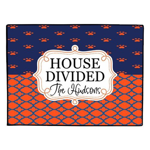 House Divided Doormat Personalized Door Mat By Gameday
