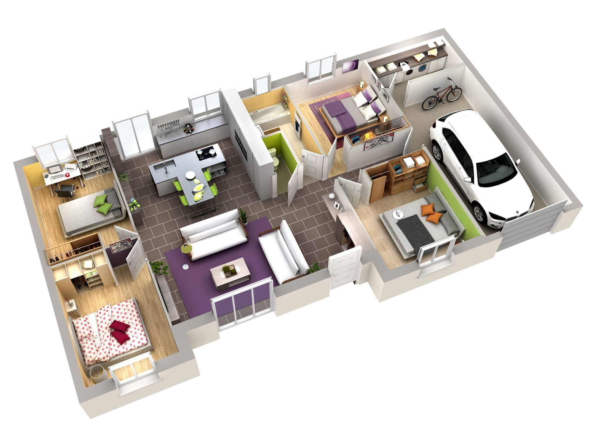 18 Plan Maison Interieur Moderne Home Building Design Small House Layout Sims House
