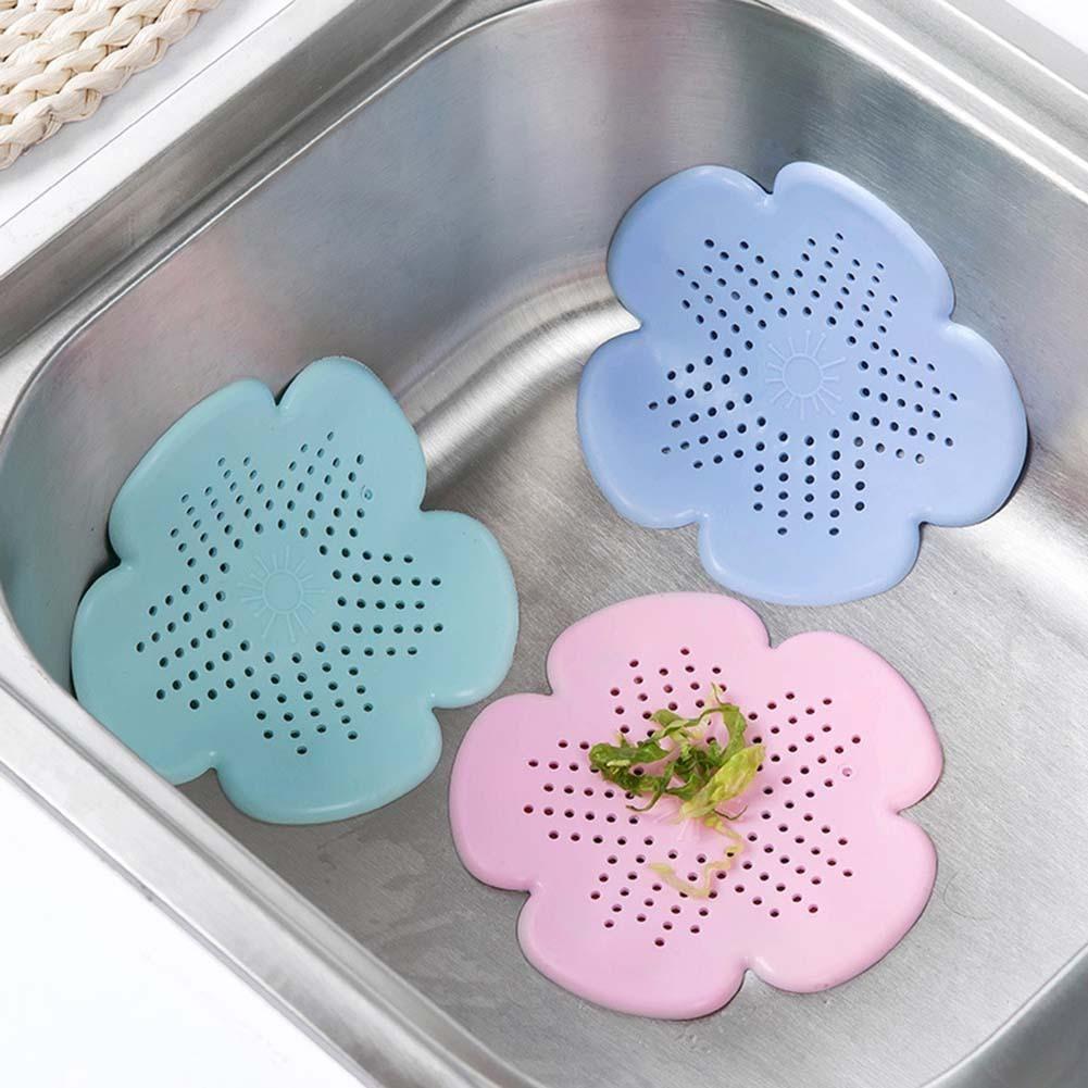 Honana Bathroom Flower Shape Suction Cup Silica Gel Sink Bathtub ...