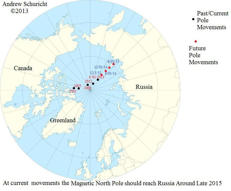 Magnetic north pole position 2001 2016 different maps pinterest magnetic north pole position 2001 2016 gumiabroncs Choice Image