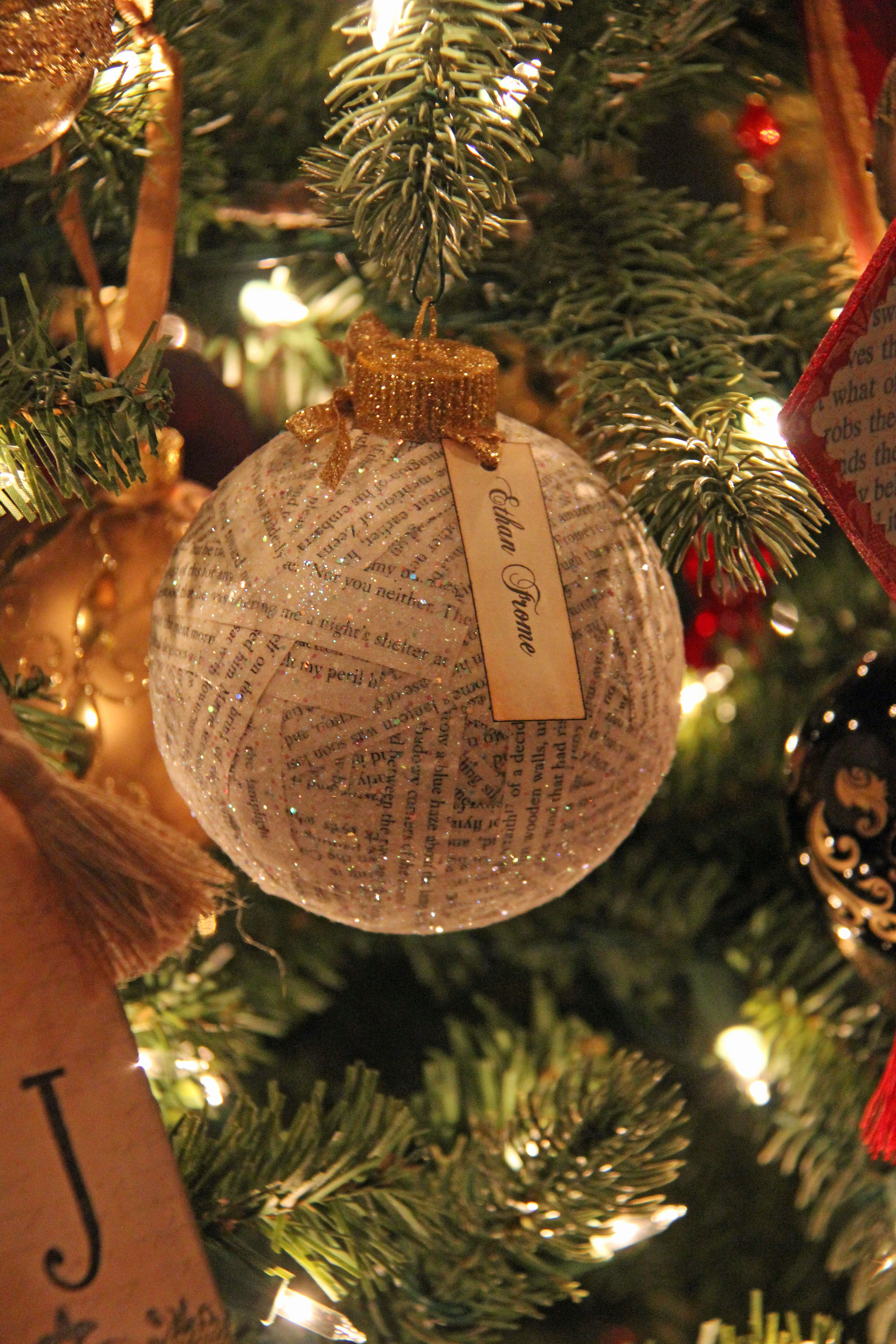 Ethan Frome ornament one of the book themed ornaments I made for my