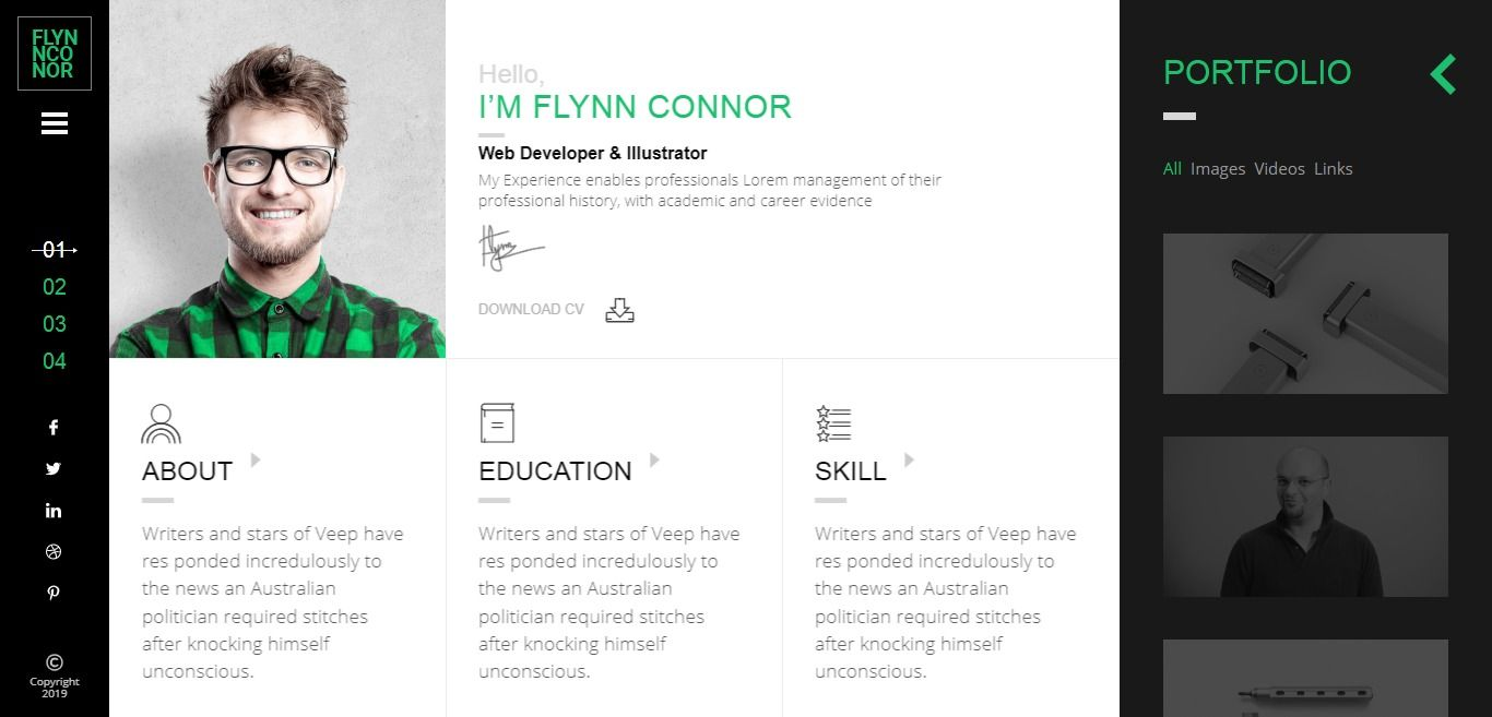 Clio Personal Resume Cv Html Template Personal Resume Resume Cv Resume Examples