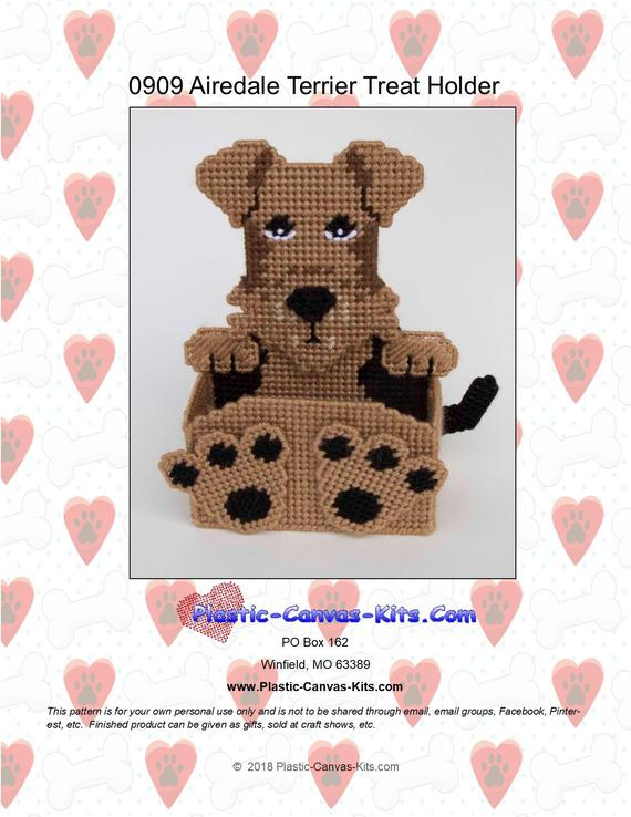 Airedale Treat Holder Plastic Canvas Pattern Pdf Download Plastic Canvas Patterns Treat Holder Canvas Patterns