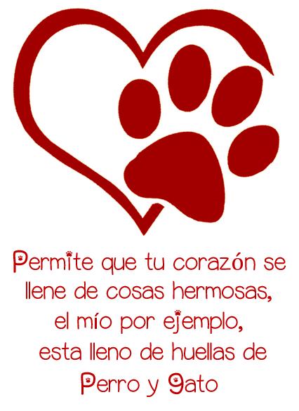 Cats And Dogs Corazón Con Huellas De Perros Y Gatos Gatos Tatuajes