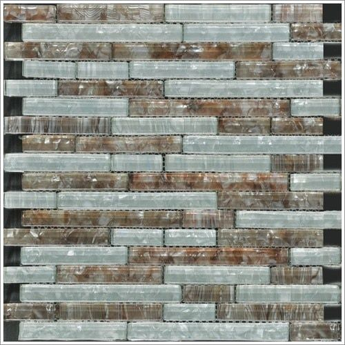 Lovely Pearl Glass Mosaic Tile Coffee Linear Blend New - Inspirational gray mosaic tile For Your Plan
