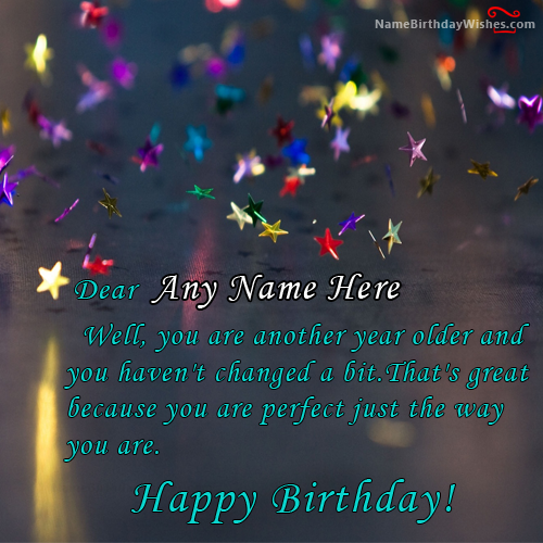 shining star happy birthday quotes with name