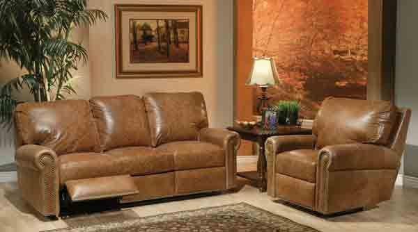 Omnia Leather Fairfield Reclining Sofa | Reclining sofa ...
