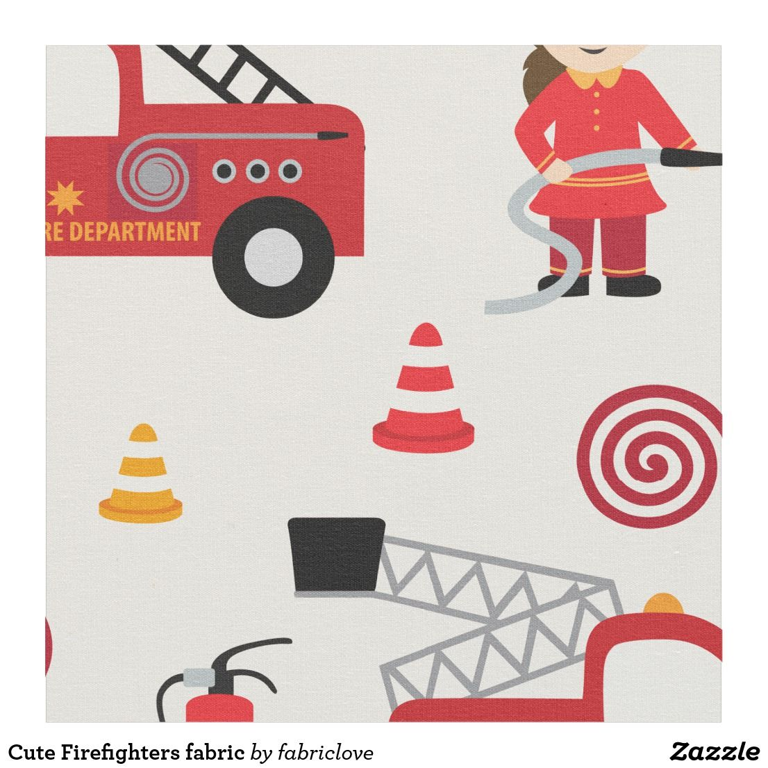 Cute Firefighters fabric Nursery fabric, Baby fabric, Fabric