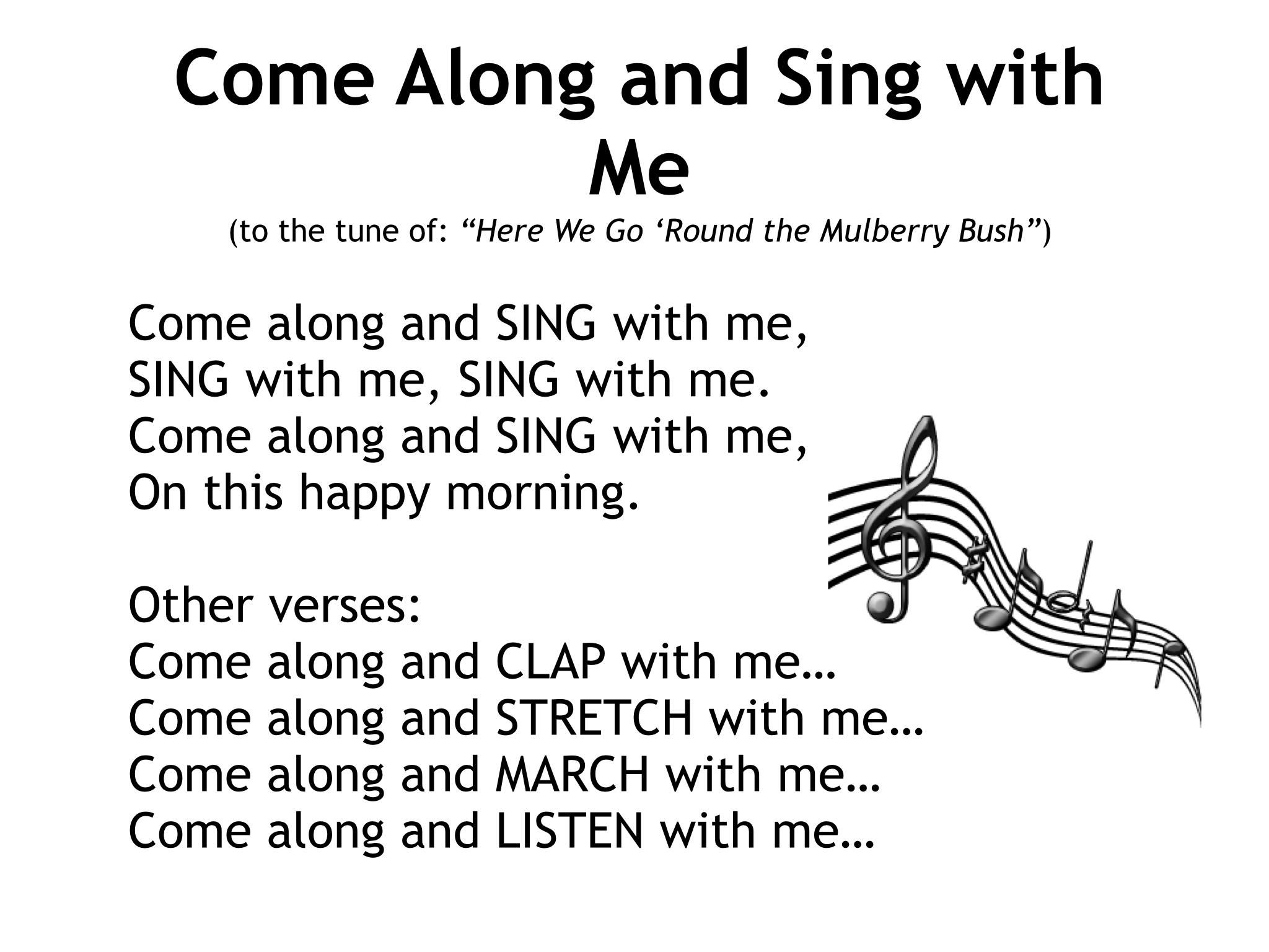 Come Along And Sing With Me Slide