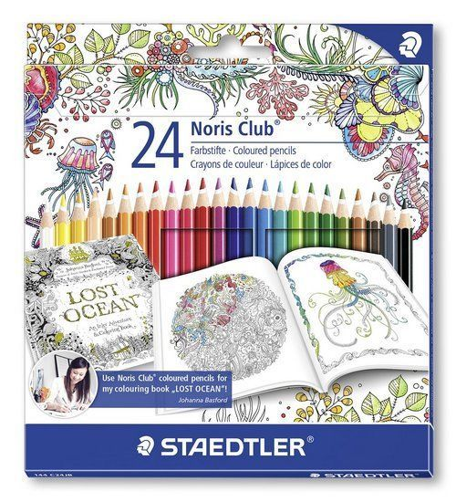 Johanna Basford Staedtler Coloured Colouring Good Pencils Adult Books Pack Of 24