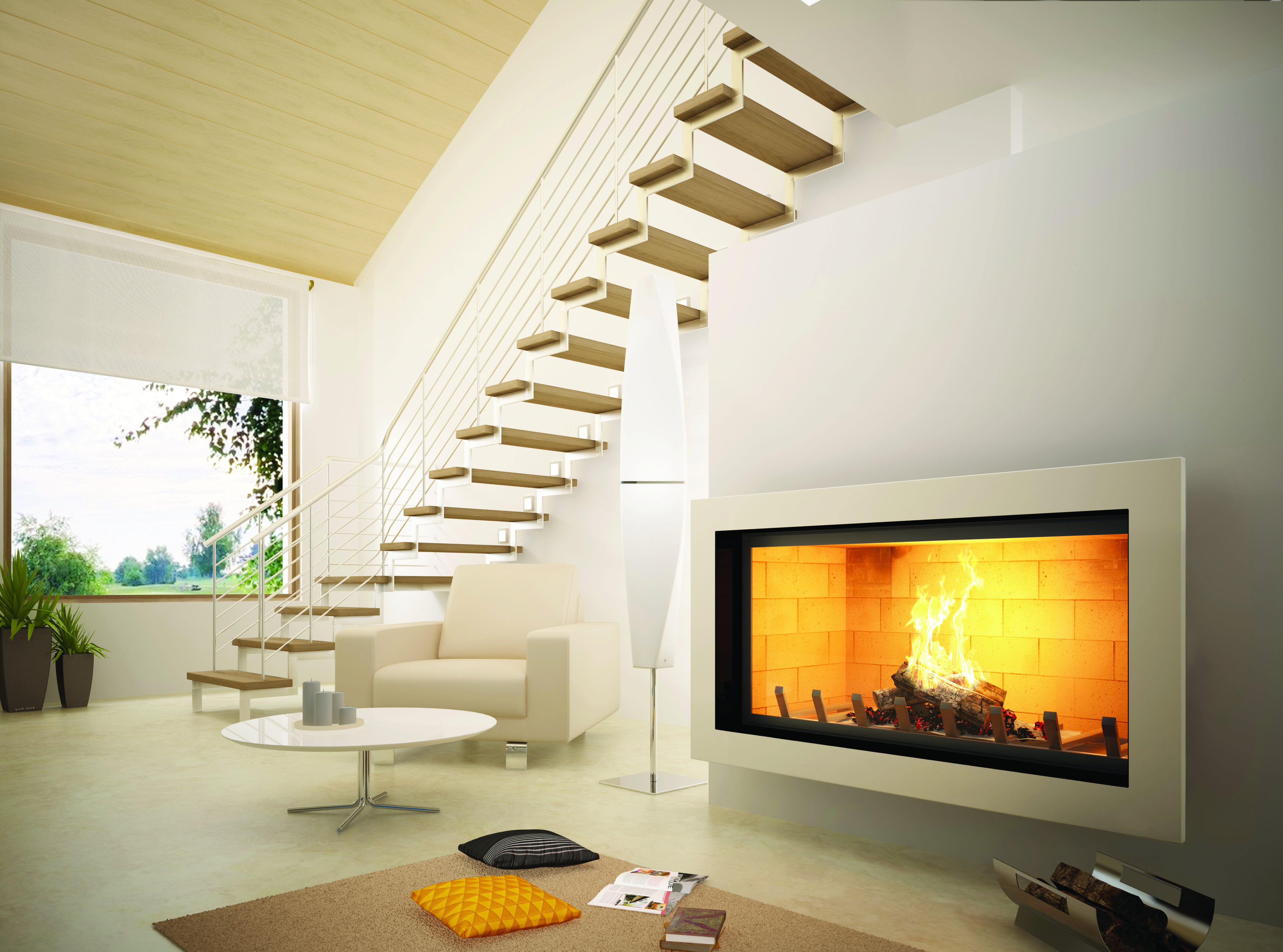axis h1200 contemporary inbuilt fireplace the artisan engineered
