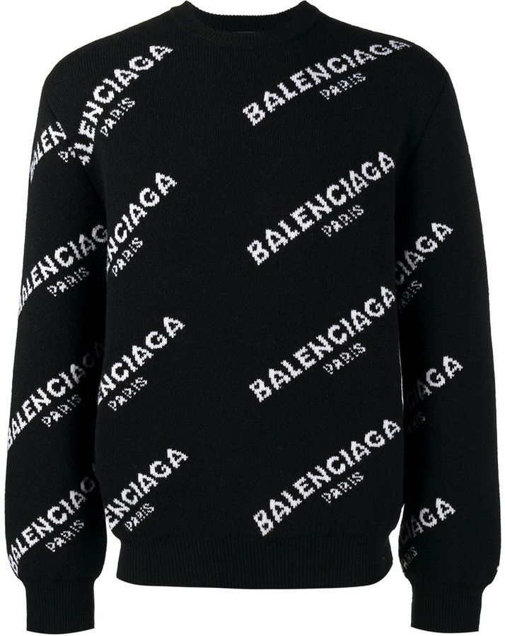 6b32bfd35 Balenciaga All Over sweater | Men fashion / Hair / Shoes / Man cave ...
