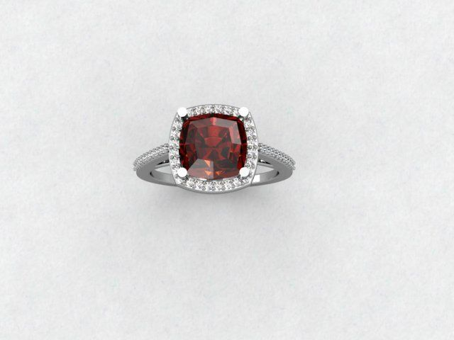 SOLD, Garnet & diamond ring, $3,075.00