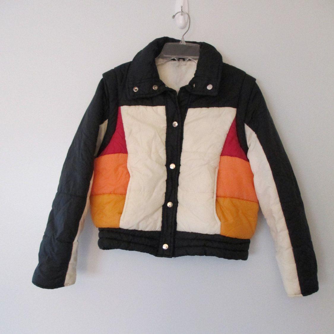 Vintage 70s Puffer Ski Jacket Convertible Vest Women S By Waywevintage On Etsy Ski Jacket Womens Vest Fashion [ 1125 x 1125 Pixel ]