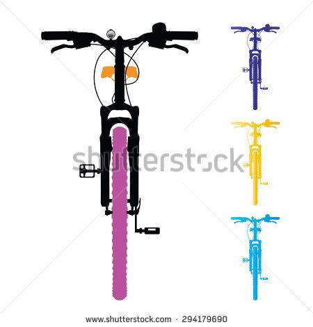 Mountain Bike Isolated Front View Vector Illustration
