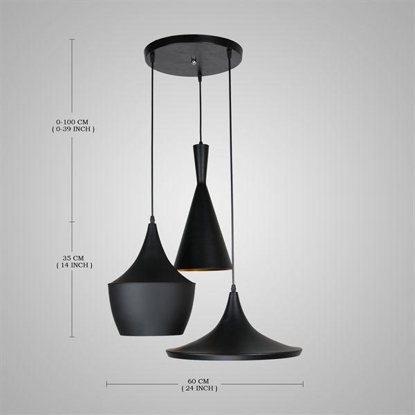 buy eu lager pendelleuchte modern minimalistisch eisen aluminium schwarz 3 flammig with lowest. Black Bedroom Furniture Sets. Home Design Ideas
