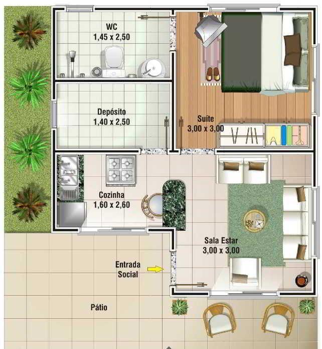 Plantas de casas modernas e econ micas house - Casas modernas economicas ...