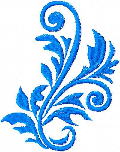 Free leaves ornament machine embroidery design a stitch