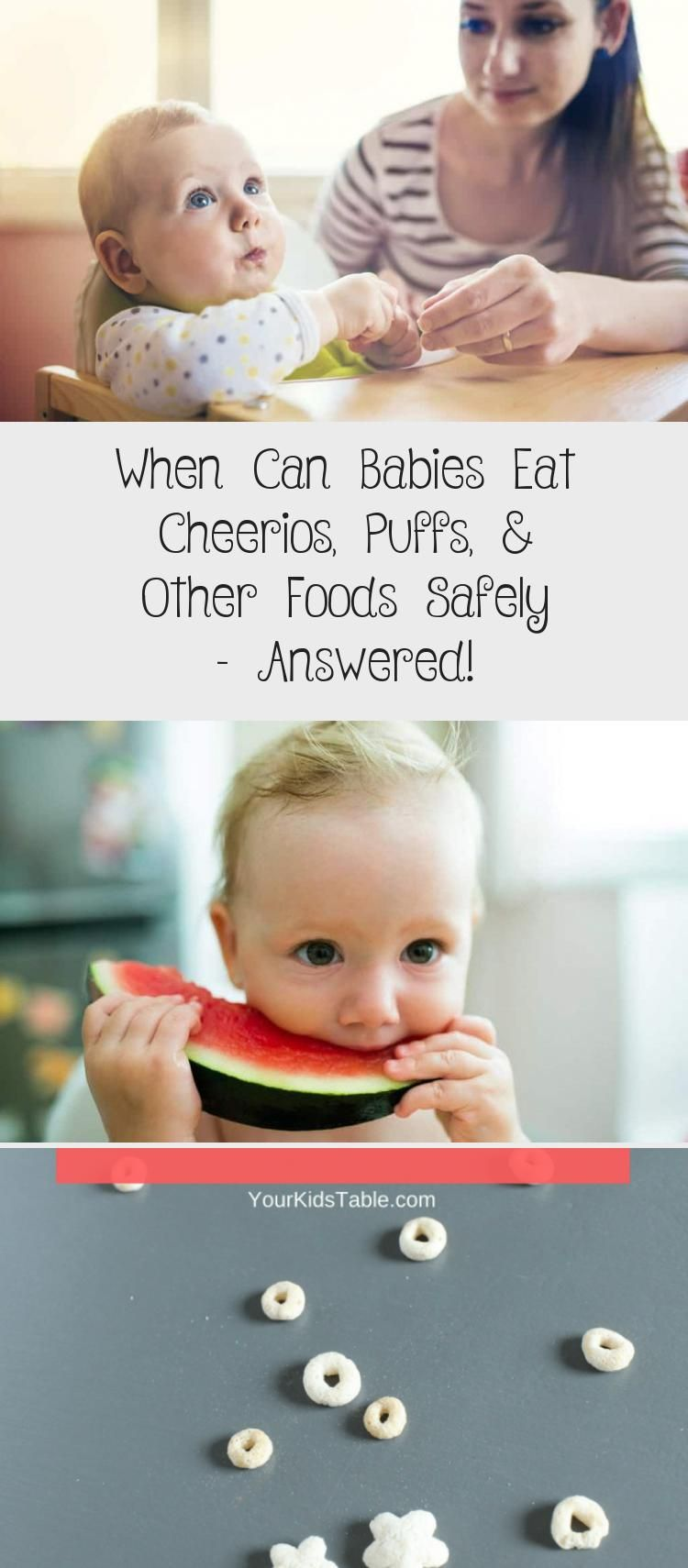 When Can Babies Eat Puffs : babies, puffs, Babies, Cheerios,, Puffs,, Other, Foods, Safely, Answered!, Eating,, Recipes,, Homemade