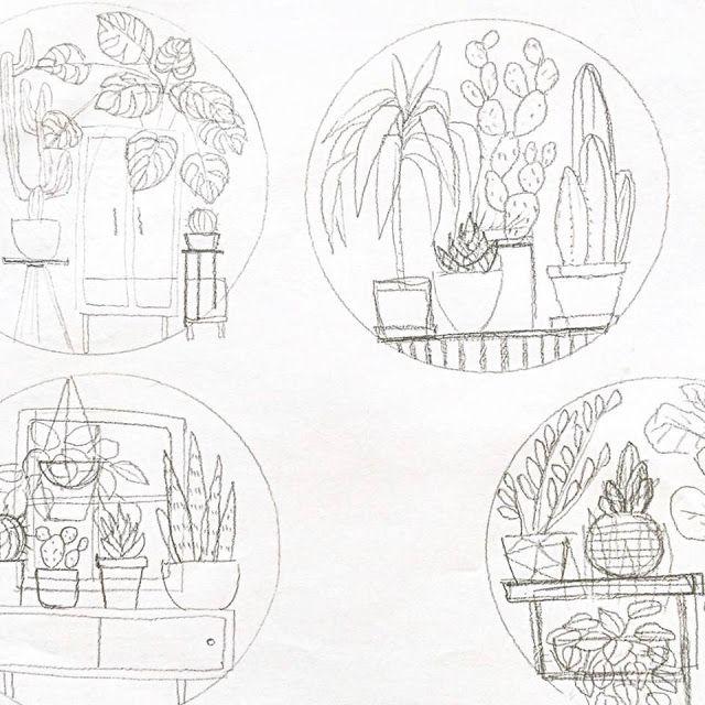 El blog de Dmc: Entrevistamos a Sarah Benning, bordadora de plantas ...