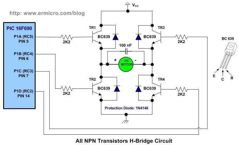 h bridge microchip pic microcontroller pwm motor controller rh pinterest com