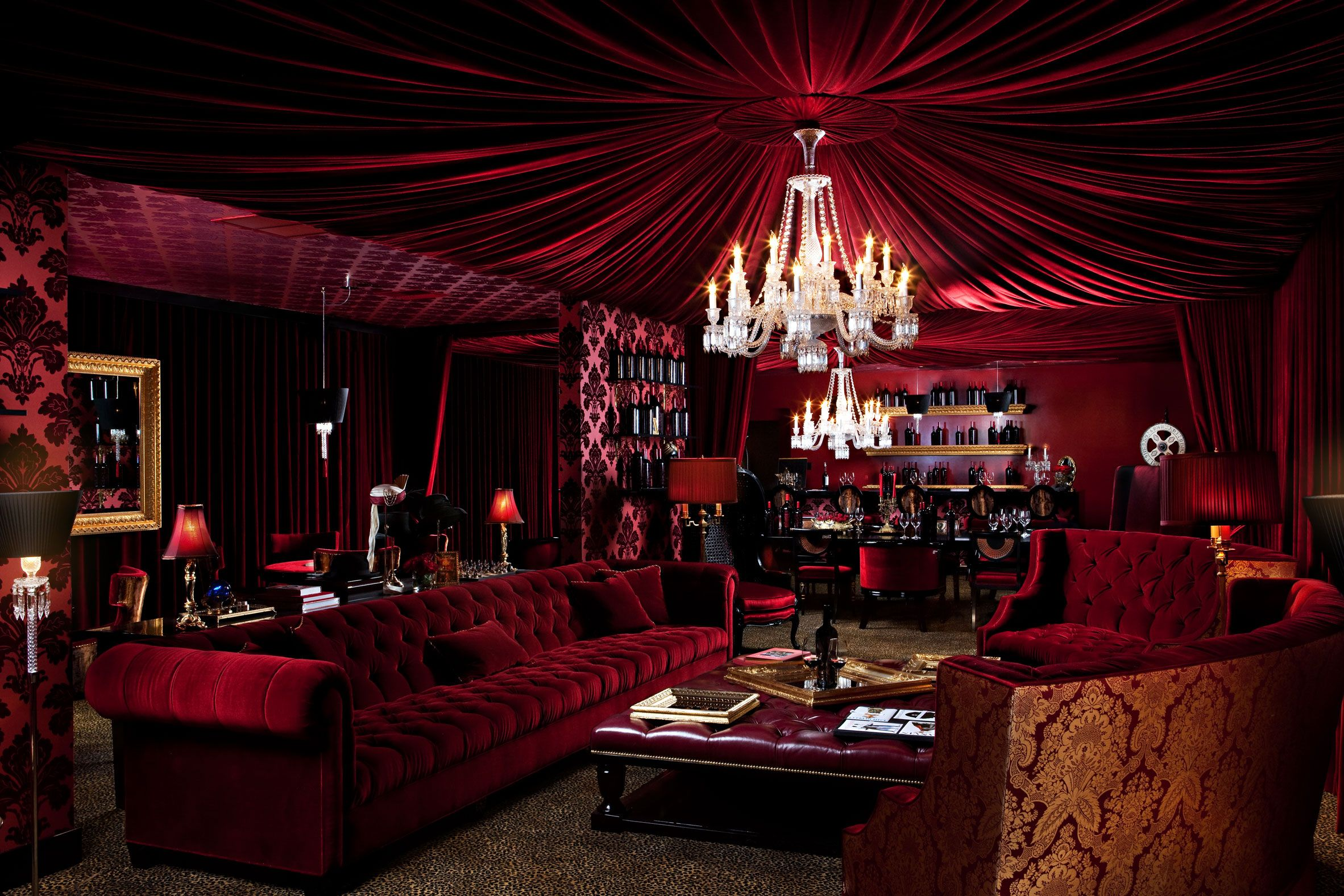 Red Living Room: Beautiful! The Red Room At Raymond Vineyards
