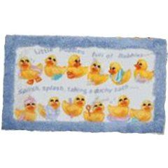 Squeaky Clean Ducks Bath RugMat Rubber Ducky Bathroom Decor - Duck bathroom rug for bathroom decorating ideas