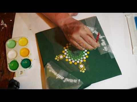 How To Paint Rock Mandalas 13 Graduation Cap Youtube