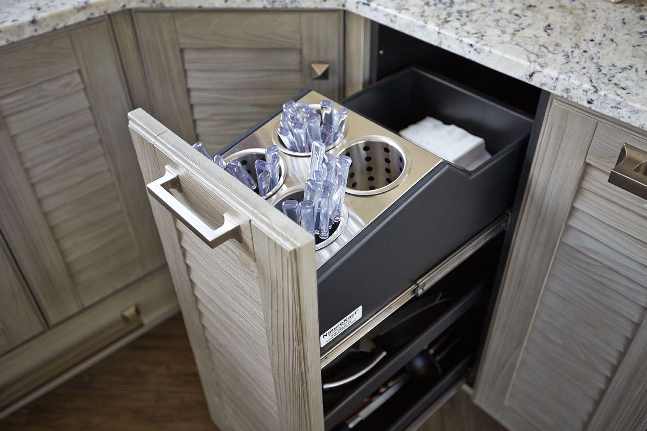 Naturekast Utensil Caddy Waterproof Outdoor Cabinetry