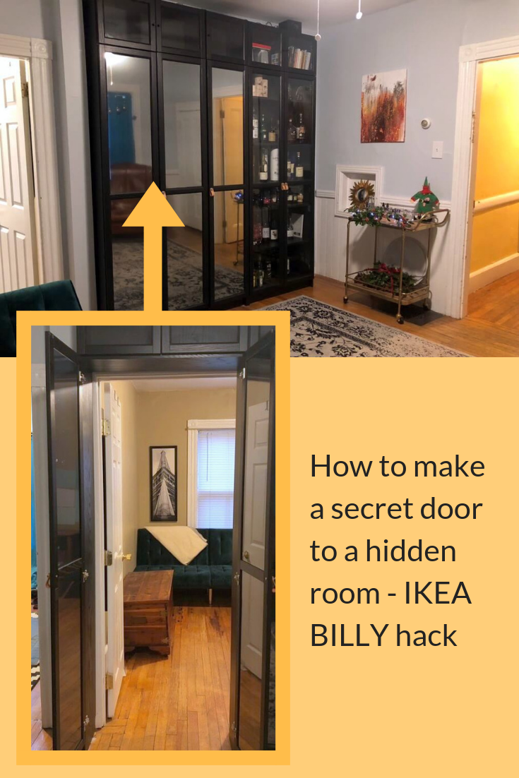 How To Hack Sliding Doors For Ikea Billy Bookcases Diy Sliding